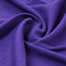 Purple - Plain 100% Cotton 2x1 Rib